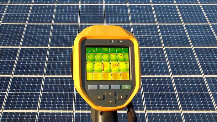 Inspektion von Photovoltaikmodulen