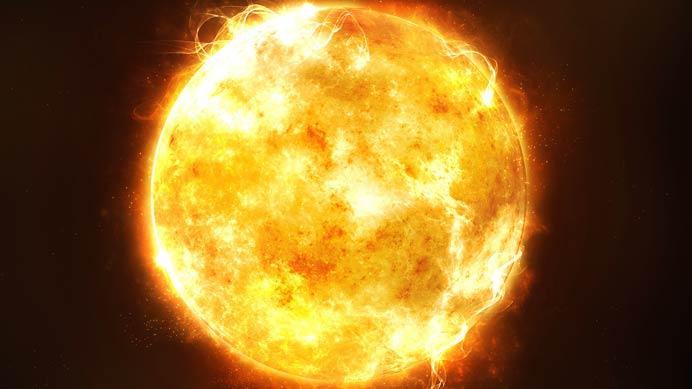 Solarenergie der Sonne