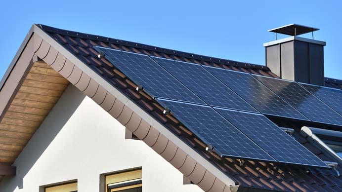 Eine typische Photovoltaikanlage