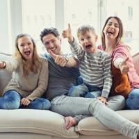 Typischer Haushalt Familie