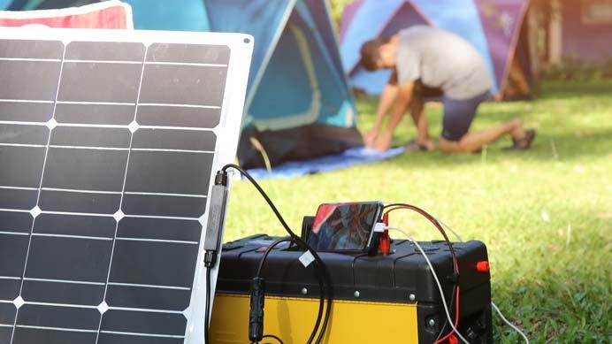12V Solarpanel zum Campen