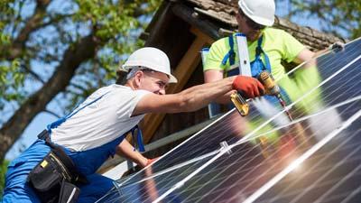 Montage Photovoltaik bei guten Voraussetzungen