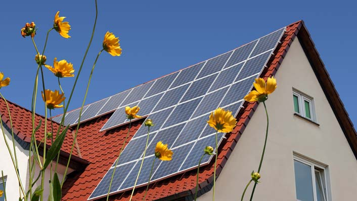 PV Anlage bei Sonne
