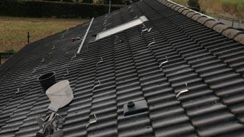 Dachhaken gesetzt Photovoltaik