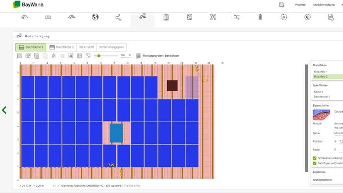 Software für die Planung einer Photovoltaikanlage