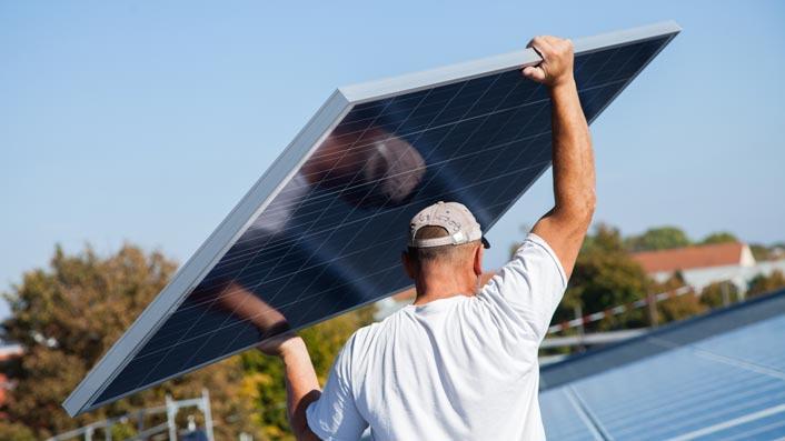 Handhabung Solarmodul