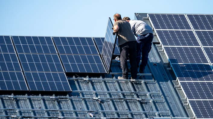 Photovoltaik-Montage