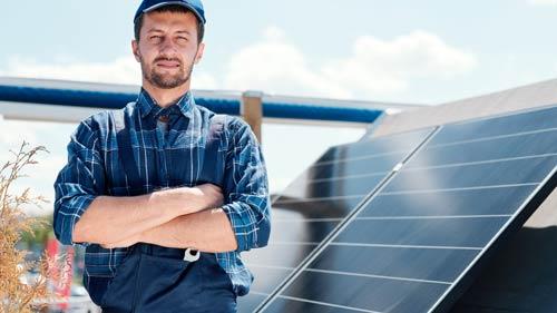 Gutes Gefühl der eigenen Solaranlage