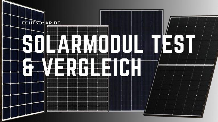 Solarmodul Test