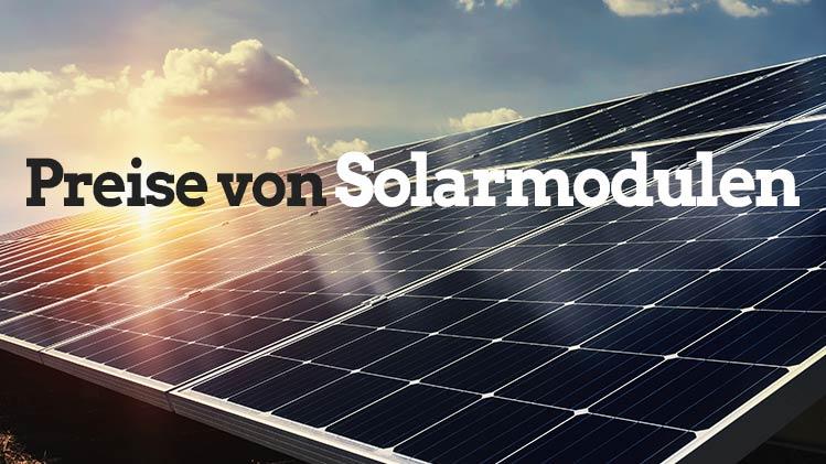 Preise Solarmodule